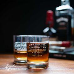 Ava Gardner Whiskey Legend Rocks Glass Set $45