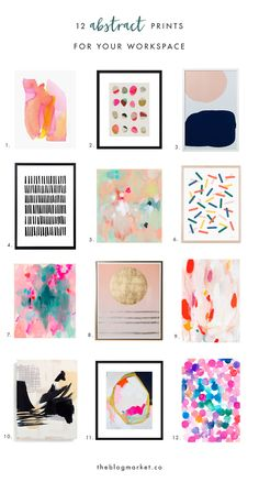 Abstract Art Prints for Your Workspace   The Blog Market