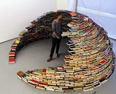 Book Igloo is part of a sculptural installation titled Home by Colombian artist Miler Lagos. The igloo is a domed sculpture and is made up of books from a defunct US Navy base library. Click through to view more images. Stack Of Books, I Love Books, Books To Read, My Books, Books Art, Recycled Books, Recycled Materials, Recycled Art, Libraries