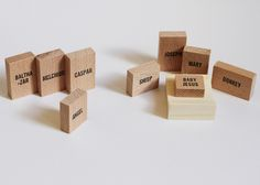 Minimal Nativity Set made of wooden blocks by Emelie Voirin