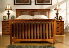 American Craftsman Slatted Bed