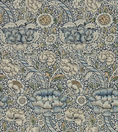 Wandle by Morris - Blue / Stone : Wallpaper Direct Stone Wallpaper, Print Wallpaper, Fabric Wallpaper, Wallpaper Roll, Hall Wallpaper, Accent Wallpaper, Antique Wallpaper, Amazing Wallpaper, Kitchen Wallpaper