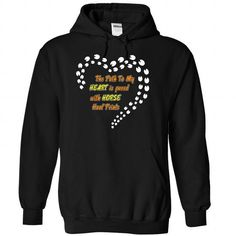 Path to my heart Horse T Shirts, Hoodies. Check price ==► https://www.sunfrog.com/LifeStyle/Path-to-my-heart--Horse--0915-4935-Black-Hoodie.html?41382