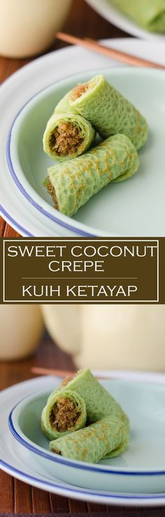 Kuih Ketayap or Sweet coconut crêpe is a Malaysian sweet treat that can be enjoyed either for breakfast, afternoon tea or as dessert.