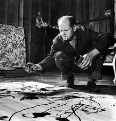 © Jackson Pollock, 1949 (Martha Holmes / LIFE Magazine)