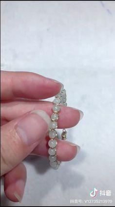 Diy Jewelry Unique, Handmade Wire Jewelry, Diy Crafts Jewelry, Bracelet Crafts, Bead Jewellery, Beaded Jewelry, Diy Rings Tutorial, Wire Jewelry Designs, Diy Bracelets Easy