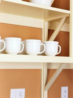 Mix Old and New:  I want shelves on the kitchen wall