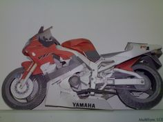 Paper Model_ yamaha r1‬‏ ..By Saiedabdo
