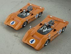 McLaren M8A CanAm 1968 N°4 and N°5 M8A Chevrolet 427 ZL-1/McLaren Engine Division V8/90° 2v OHV 6992 cc N/A Built by Mike Labahn and Joerg Stephan, collection afgh