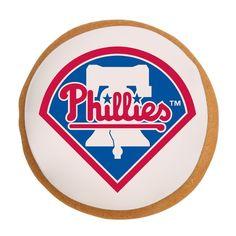 Philadelphia Phillies Cookies  http://elenis.com/philadelphia-phillies-gift-tin.html?utm_source=pinterest&utm_medium=Take%20Me%20Out%20to%20the%20Ball%20Game&utm_campaign=Philadelphia%20Phillies