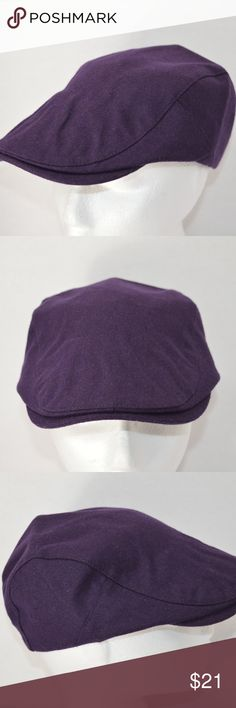 NEW Fashion Dark Purple Men Women Beret Flat Cap Brand Name: Aerlxemrbrae, Style: Casual Size: adult size, 55-59cm, Medium/Large,  adjustable snap, Material: cotton/polyester/wool, Colors: Dark Purple, Flaws: No rips, holes, tears, or marks,  Condition: This is a well made hat in new condition. Aerlxemrbrae Accessories Hats