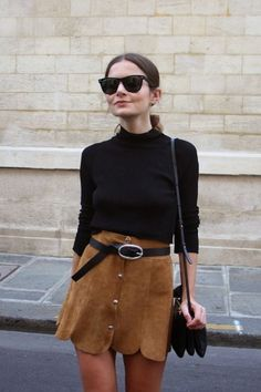 10 chic suede skirts you don´t want to miss!Really! These chic suede skirts make sure you´re ahead of trends this spring! Found on: Pinterest suedeskirt spring asos gucci booties chic sneakers gefunden auf Styletorch