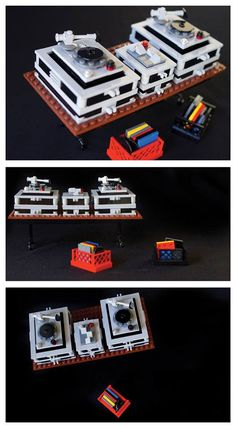 Lego turntable decks-I think this is funny. It's all made of Legos. lol