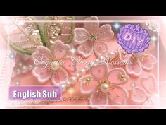 Nylon Flowers, Organza Flowers, Diy Flowers, Fabric Flowers, Paper Flowers, Embroidery Works, Ribbon Embroidery, Embroidery Designs, Diy Arts And Crafts