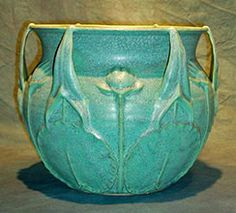 Jemerick Arts and Crafts inspired vase by Artists Steven Frederick and Cherie Jemsek.