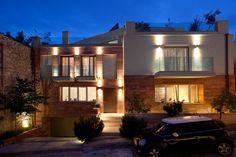 Nikolas Dorizas Architect Tel: +30.210.4514048 Address: 36 Akti Themistokleous – Marina Zeas, Piraeus 18537, Κατοικία στην Καστέλα σε τρεις δρόμους με εξωτερική πισίνα - Residence in Kastela, facing three streets, for a family of three, with an external pool Mansions, House Styles, Home Decor, Decoration Home, Manor Houses, Room Decor, Villas, Mansion, Home Interior Design