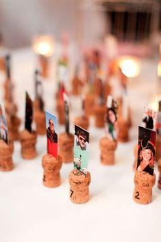 Take a look at our pick of 40 DIY wedding place cards. Find unique wedding name cards here, in order to get your guests to their tables. Wedding Place Names, Wedding Name Cards, Wedding Places, Wedding Badges, Wedding Things, Wedding Stuff, Cork Wedding, Wedding Guest Book, Diy Wedding