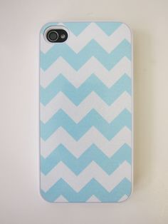 Robin's Egg Blue Chevron iPhone Case by whiskeykittens on Etsy, $20.00