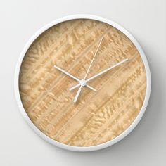Eucalyptus Wood Wall Clock