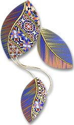 McCaw's falling polymer leaves | Polymer Clay Daily