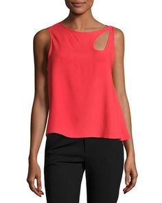 f3fdd0c2b88 Shop Sleeveless Cutout Loose Top