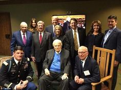 One week from tomorrow, on November 7, my father Billy Graham will celebrate his 98th birthday—that's hard to believe! It seems like only yesterday we were celebrating his 95th. He enjoyed so much being surrounded by friends and family as we gave God the glory for his life and ministry. Here's a snapshot with a few special friends who gathered that night three years ago. You might recognize some of the faces.