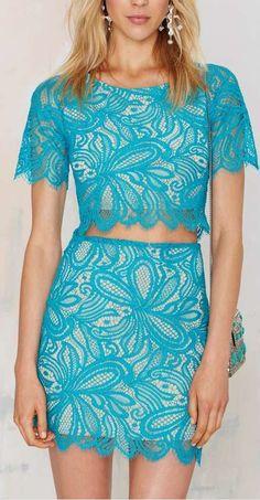 beach breeze lace skirt