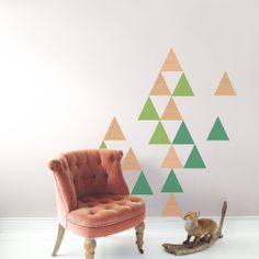 TRIANGLES - STORE - : Stickers Deluxe : Wallstickers : Floorstickers : Folie : Triangles, Stickers, Stores, Home Art, Accent Chairs, Kids Rugs, Wall, Furniture, Home Decor