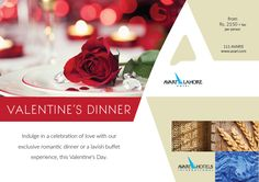 Indulge in a celebration of love with our exclusive romantic dinner or a lavish buffet experience, this Valentine's Day.