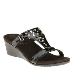 Amazon.com: Vionic with Orthaheel Technology Women's Maggie Slide Wedge Sandals: Shoes