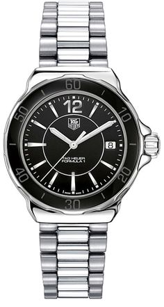 WAH1210.BA0852 NEW TAG HEUER FORMULA 1 LADY CERAMIC QUARTZ WATCH IN STOCK - View Our Year End Sale - FREE Overnight Shipping   Lowest Price Guaranteed - No Sales Tax (Outside California)- With Manufacturer Serial Numbers - Black Dial- Black Ceramic Bezel - Battery Operated Quartz Movement- 3 Year Warranty - Guaranteed Authentic - Certificate of Authenticity- Polished Steel Case - Stainless Steel Bracelet - Scratch Resistant Sapphire Crystal- Manufacturer Box