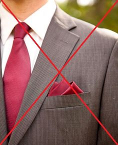 A Guide to Matching Ties and Pocket Squares match ties and pocket. - A Guide to Matching Ties and Pocket Squares match ties and pocket squares - Pocket Square Rules, Pocket Square Guide, White Pocket Square, Men's Pocket Squares, Suit With Red Tie, Suit And Tie, Abercrombie Men, Pliage Pochette Costume, Audemars Piguet