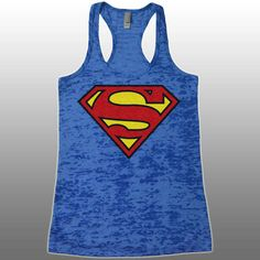 Superman Burnout Tank Top. Funny Womens Superhero Supergirl Workout Tanks. Ladies Gym Tank Tops. Avengers Running Work Out Shirt. by CuteBuffy on Etsy https://www.etsy.com/listing/232042733/superman-burnout-tank-top-funny-womens