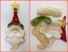 Ideas For Sewing Christmas Decorations Inspiration sewing Ornament Crafts, Felt Crafts, Decor Crafts, Christmas Crafts, Christmas Decorations, Felt Christmas Ornaments, Christmas Mood, Sewing Projects For Kids, Christmas Sewing