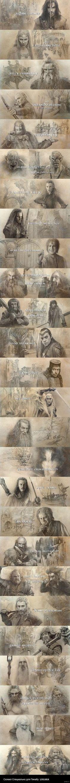 Картины из титров фильма Хоббит: Битва пяти воинств Вот обещанный длиннопост картин как и обещал если найду =)