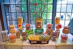candy buffet design | Jennifer Bishop Design Candy Buffett Wedding