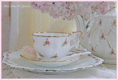 Pink Tea Cup   pretty pink tea cup and pot   Tea Time