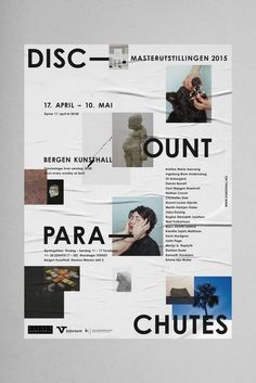 "johangiraud: ""Tobias Faisst – Discount Parachute, Bergen Kunsthall "" - New Sites Graphisches Design, Buch Design, Print Design, Cover Design, Logo Design, Graphic Design Posters, Graphic Design Typography, Graphic Design Inspiration, Mise En Page Portfolio"