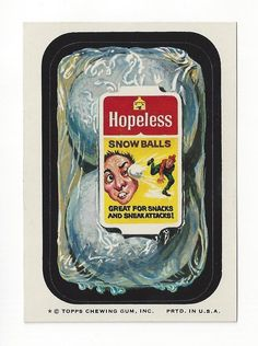 1974 Topps Wacky Packages 8th Series 8 Hopeless Snowballs | eBay