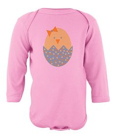 Loving this Light Pink Chick & Egg Bodysuit - Infant on #zulily! #zulilyfinds