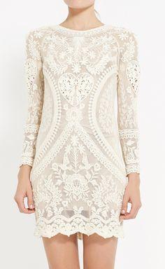 Isabel Marant Ivory Dress// gorgeous//