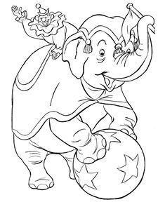 Circus Coloring page   Trained Circus elephant