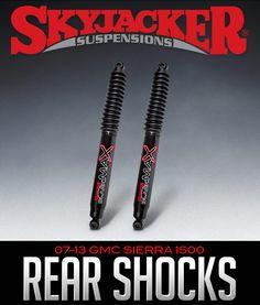 Skyjacker Black MAX Rear Shocks: 2007-2013 GMC Sierra 1500 #B8517