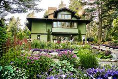 Bibler Gardens, Kalispell, Montana - Main house garden