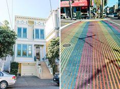 Castro San Francisco Roadtrip San Francisco - Vancouver Zebrastreifen colorful painted houses