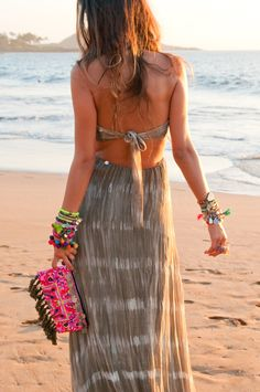 tie dyed maxi + accessories