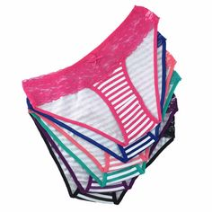 99e70213002d Lot 6,12 PCS Women Bikini Panties Sexy Cotton Low Waist Hipster Briefs  Underwear | eBay