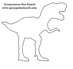 free template of t-rex image - - Yahoo Search Results