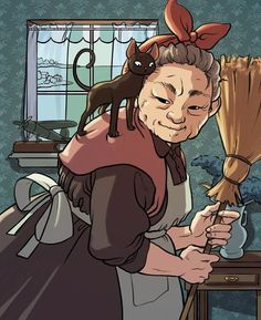 Kiki by Daaakota on DeviantArt Cartoon Grandma, Old Lady Cartoon, Character Concept, Character Art, Concept Art, Research Images, Drawing Techniques, Drawing Tips, Drawing Ideas