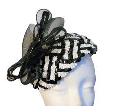 Black and White Half Hat